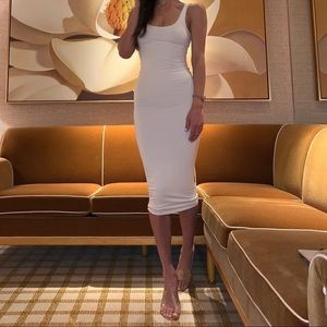 White Essential Midi Dress